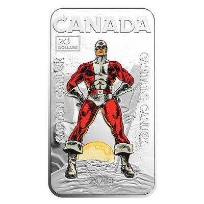 Канада. Елизавета II. 2018. 20 долларов. Капитан Канада. 0.9999 Серебро 1.0148 Oz., ASW., 31.56 g. PROOF / Colored