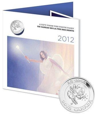 Канада. Елизавета II. 2012. 25 центов. Набор монет. Зубная Фея #02. Fe-Ni. KM#. Proof-Like