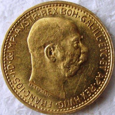 Империя Австро-Венгрия. Франц Иосиф I. 1911. 10 крон. 0.917 Золото. 0.10025 Oz., AGW 3.4 g., KM#2816. AU.