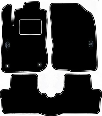 PEUGEOT 2008 - DESIGN car floor mats with white stitching
