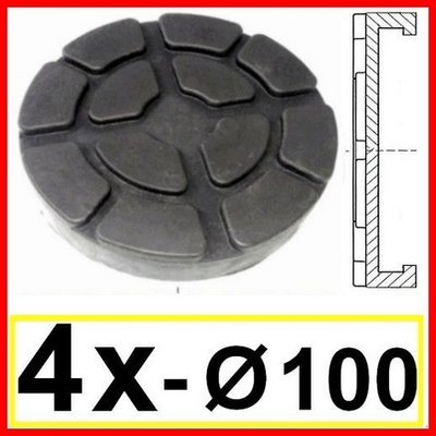 SET OF 4 PADS for Ravaglioli 2 Post D. 100 mm - tampons