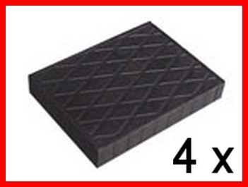 Set of 4 Universal Scissor Lift Rubber Pads - 140x110x20 mm - tampons