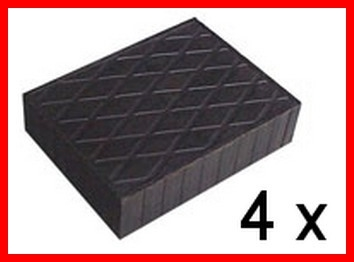 Set of 4 Universal Scissor Lift Rubber Pads - 160x120x40 mm - tampons