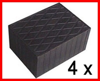 Set of 4 Universal Scissor Lift Rubber Pads - 160x120x80 mm - tampons