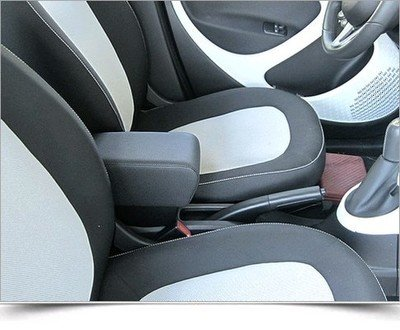 Armrest and storage Smart ForTwo C453 - ForFour W453 - BLACK ECO LEATHER