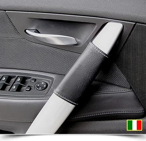 Coppia coprimaniglie in vera pelle per BMW X3