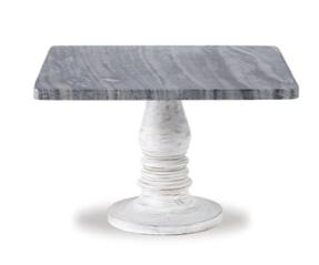 White Wash Marble Pedestal 718540437575