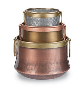 Metal Tin Pots Set 718540514917set