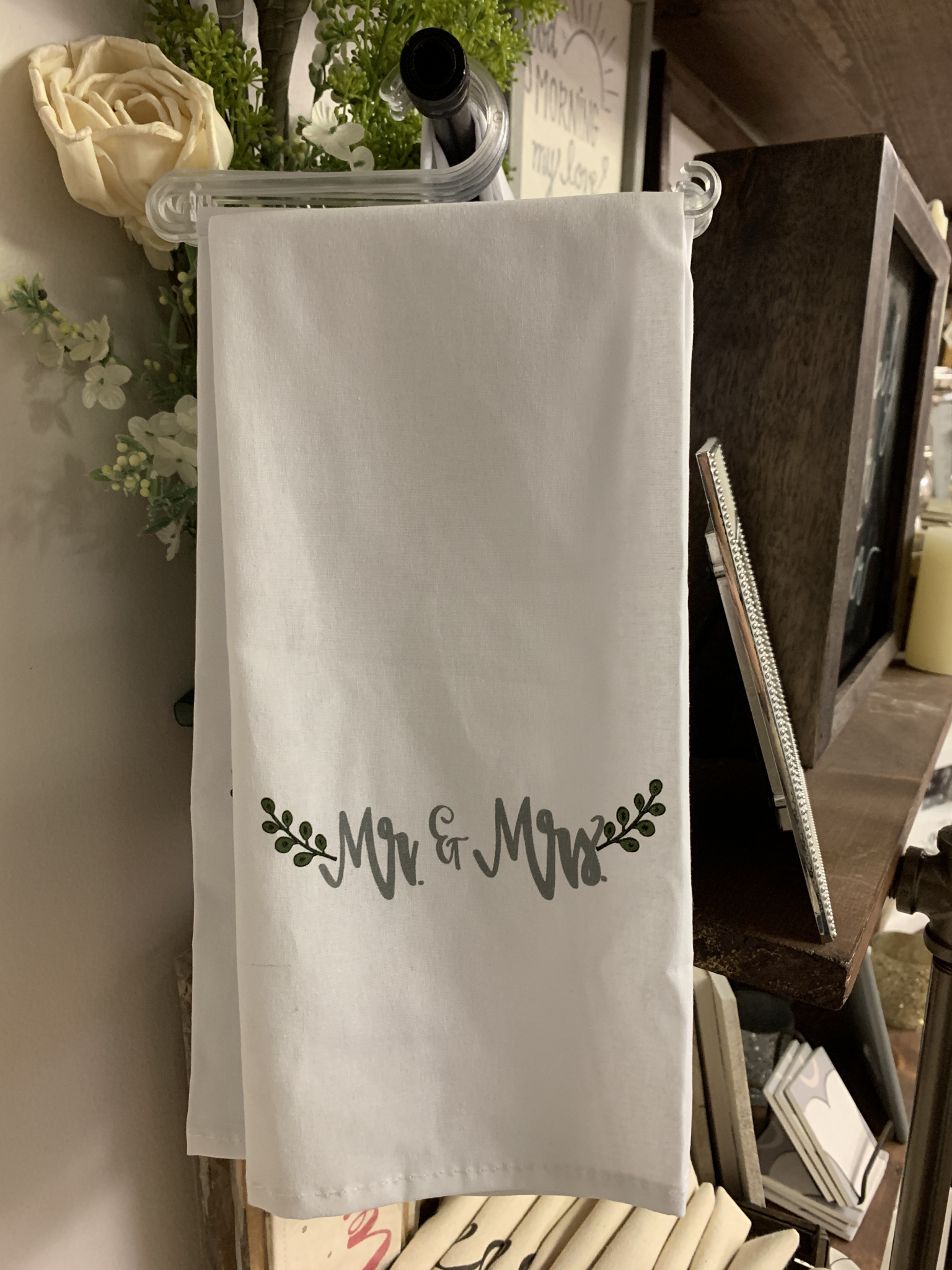 Mr & Mrs Tea Towel 683731130620