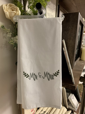 Mr & Mrs Tea Towel