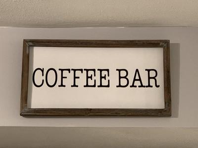 Coffee Bar Wood Sign