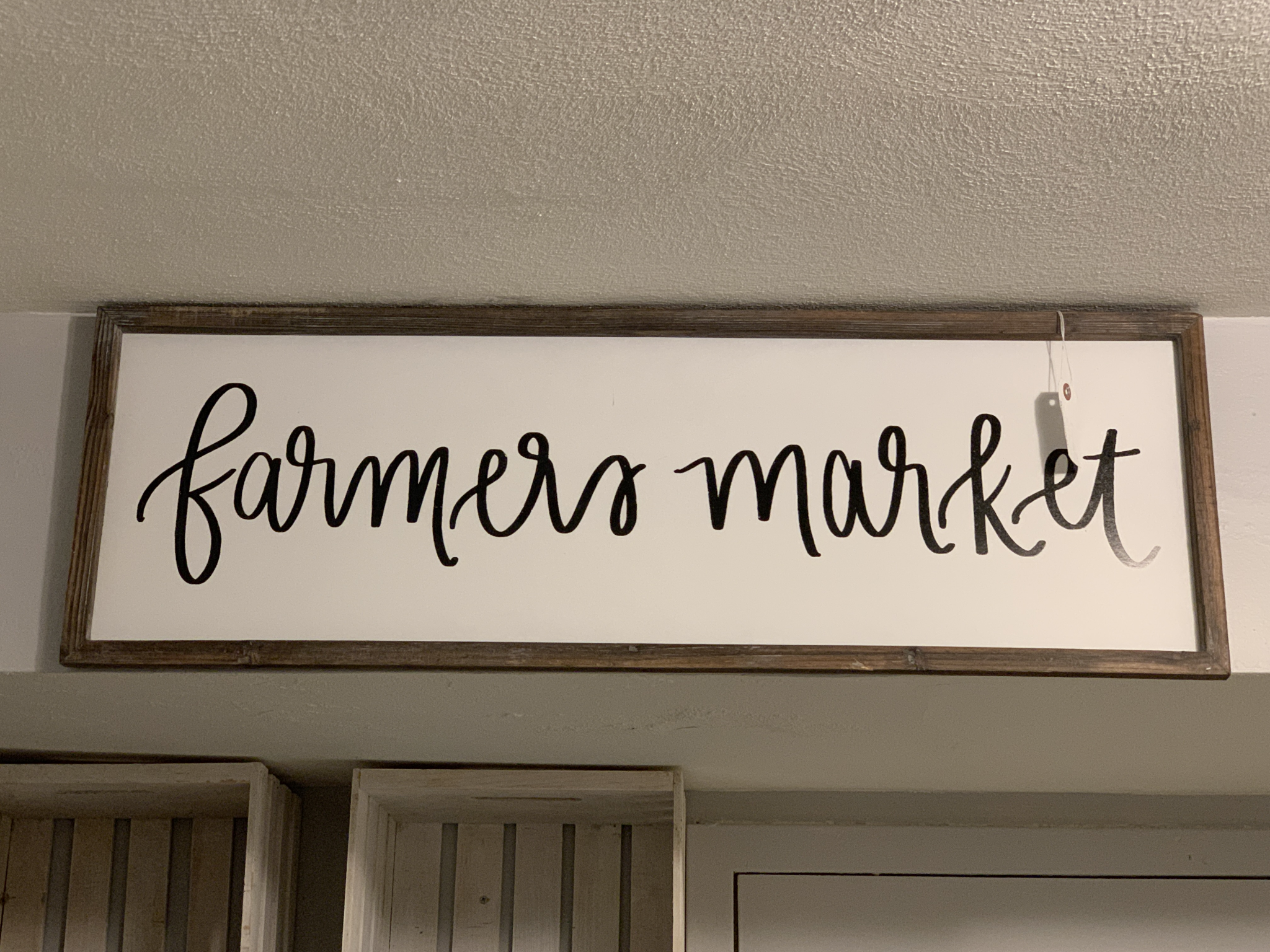 Farmer's Market Wood Sign swfarmersm