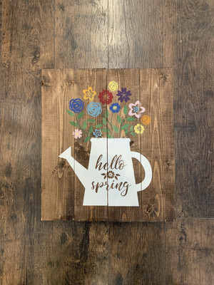 TPG Hello Spring Sign