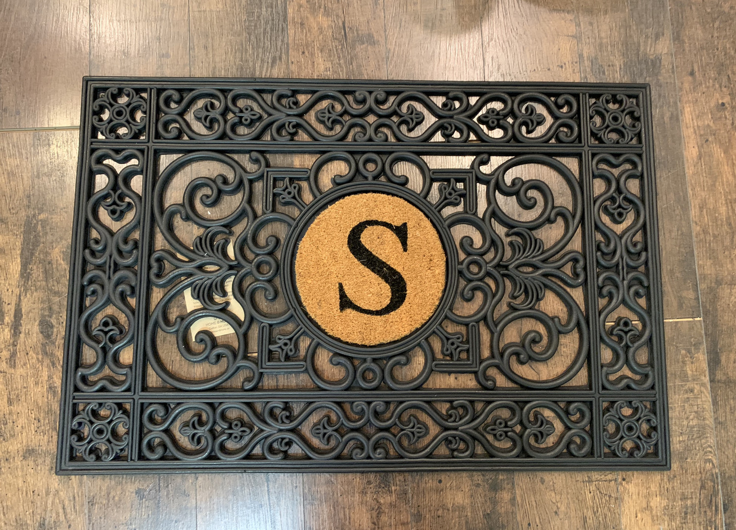 Rubber Mat Door Mat With Open Inlay