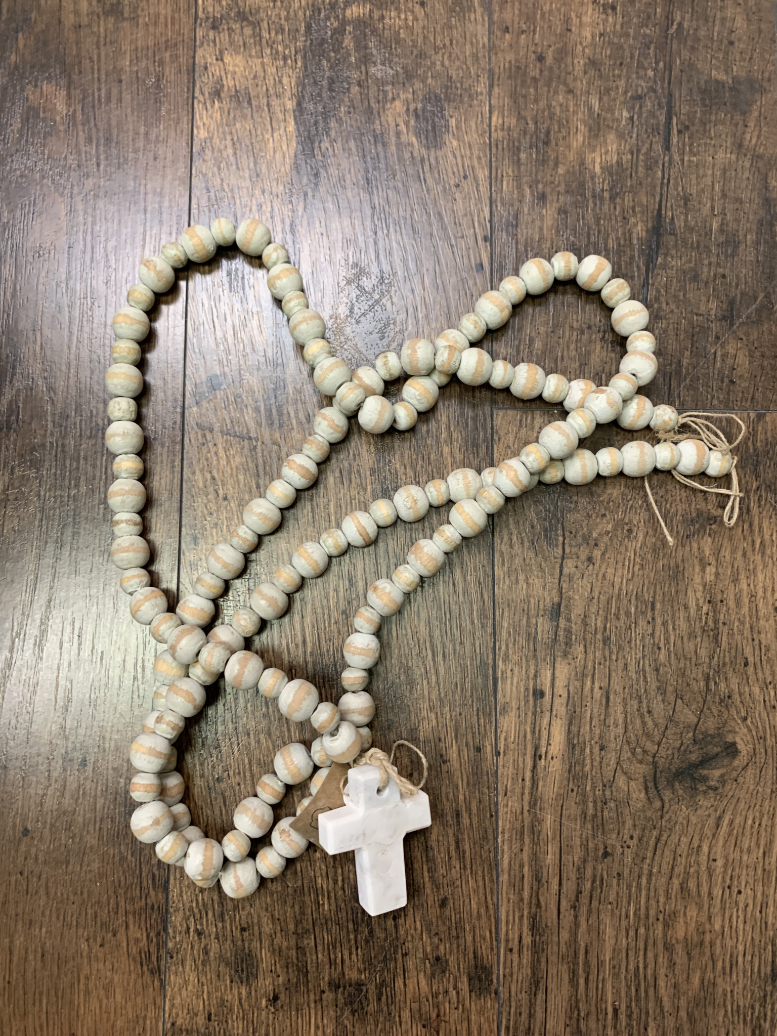 Beads With Marble Cross Grey 718540510742