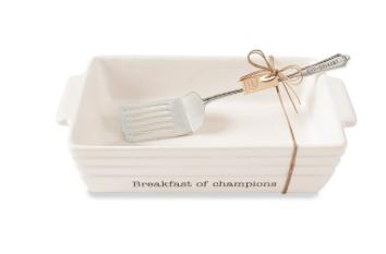 Breakfast Of Champions Egg Breakfast Serving Set 718540519585