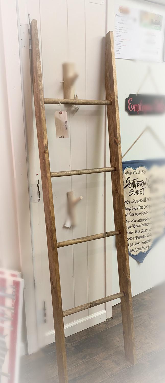Wooden Ladder Blanket Holder