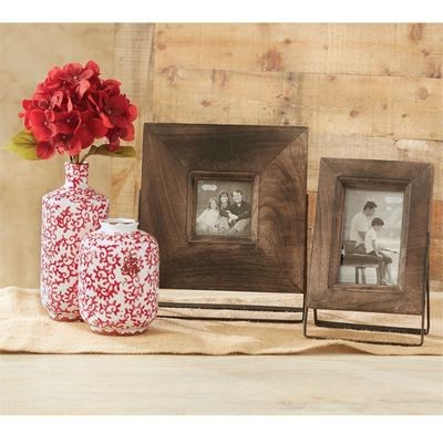 Wooden Picture With Metal Stand 4 x 4