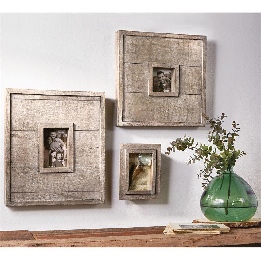 Dark Wood Slat Picture Frame 4 x 6