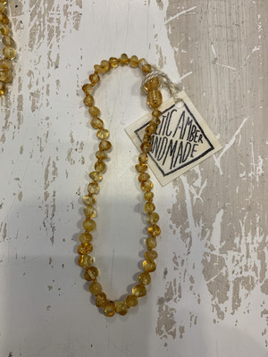 Baby Teether Necklace Baltic Amber 11 Inch