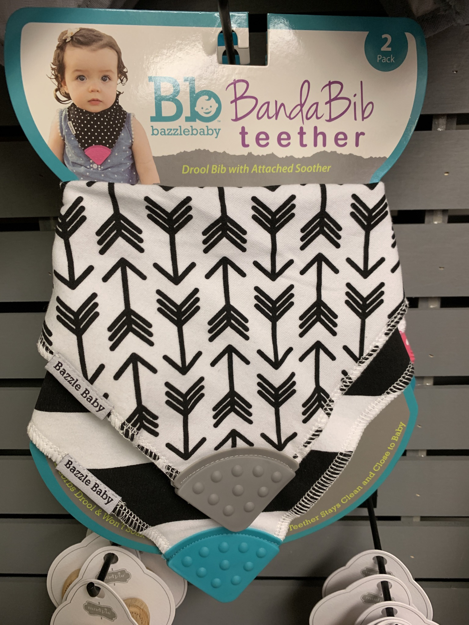 Bandana Bib Tether Arrows And Black And White Stripes 73055