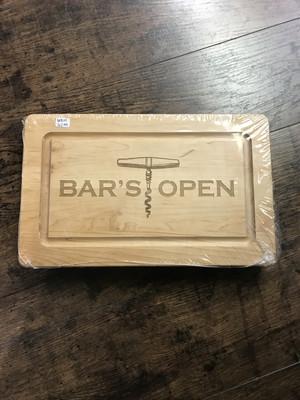 Bar's Open Maple Wood Board