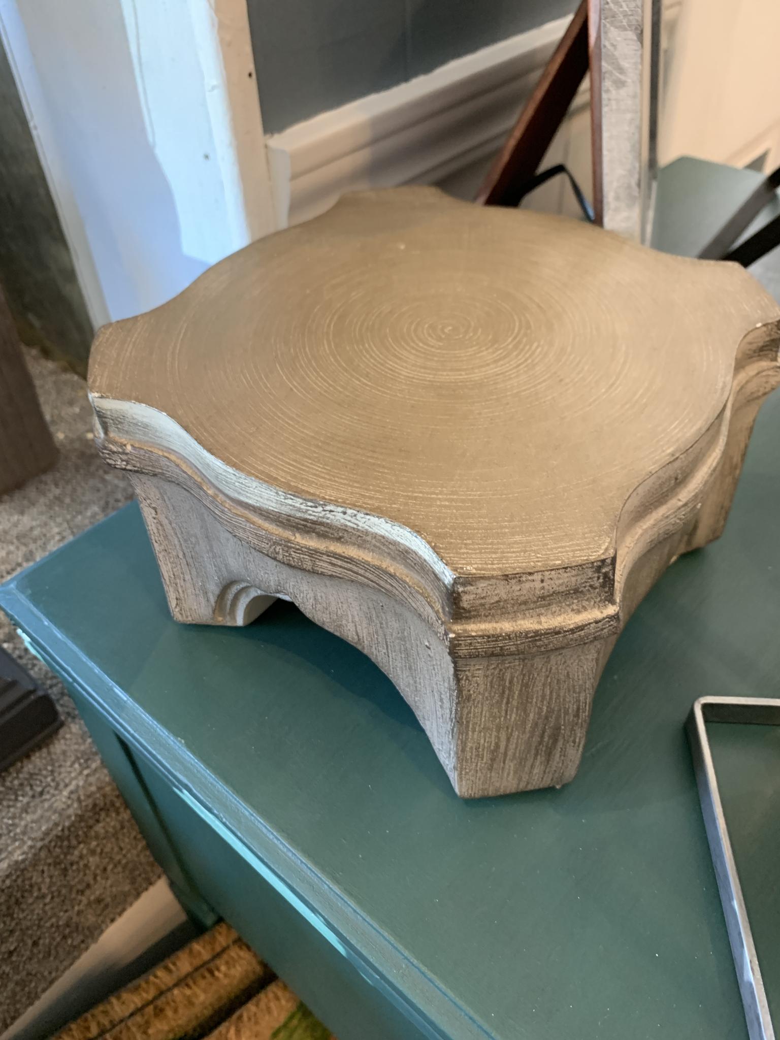 Graham Lamp Pedestal Grey Block 73054