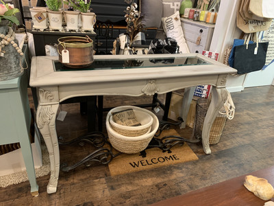 SSCF Grey Entry | Sofa Table With Iron