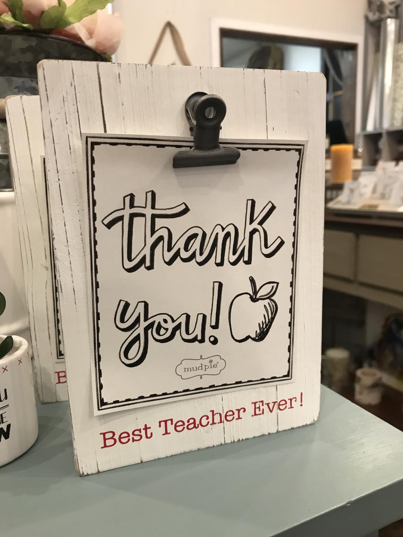 Best Teacher Ever Clip Board Frame