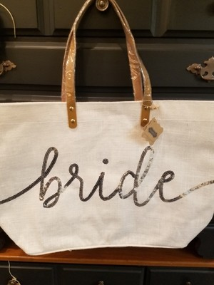 Bride Tote Silver Sequence