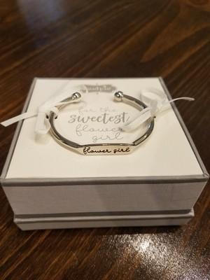 Flower Girl Cuff Bracelet