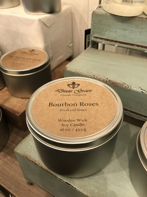 Bourbon Roses 16oz Candle