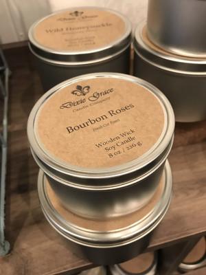 Dixie Grace Candle Bourbon Roses 8 oz.