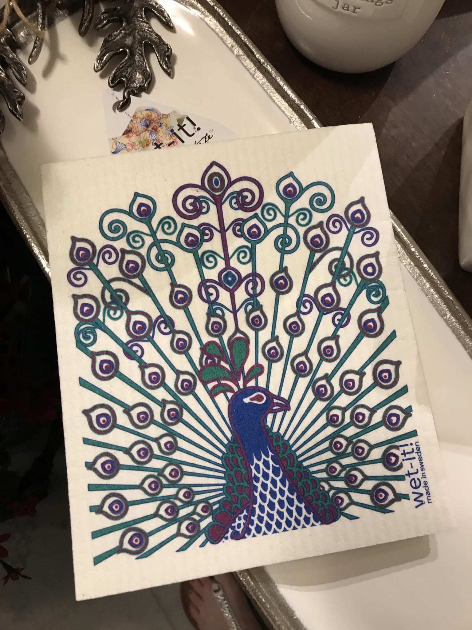 Peacock Bamboo Cloth Scrubber 859533007921