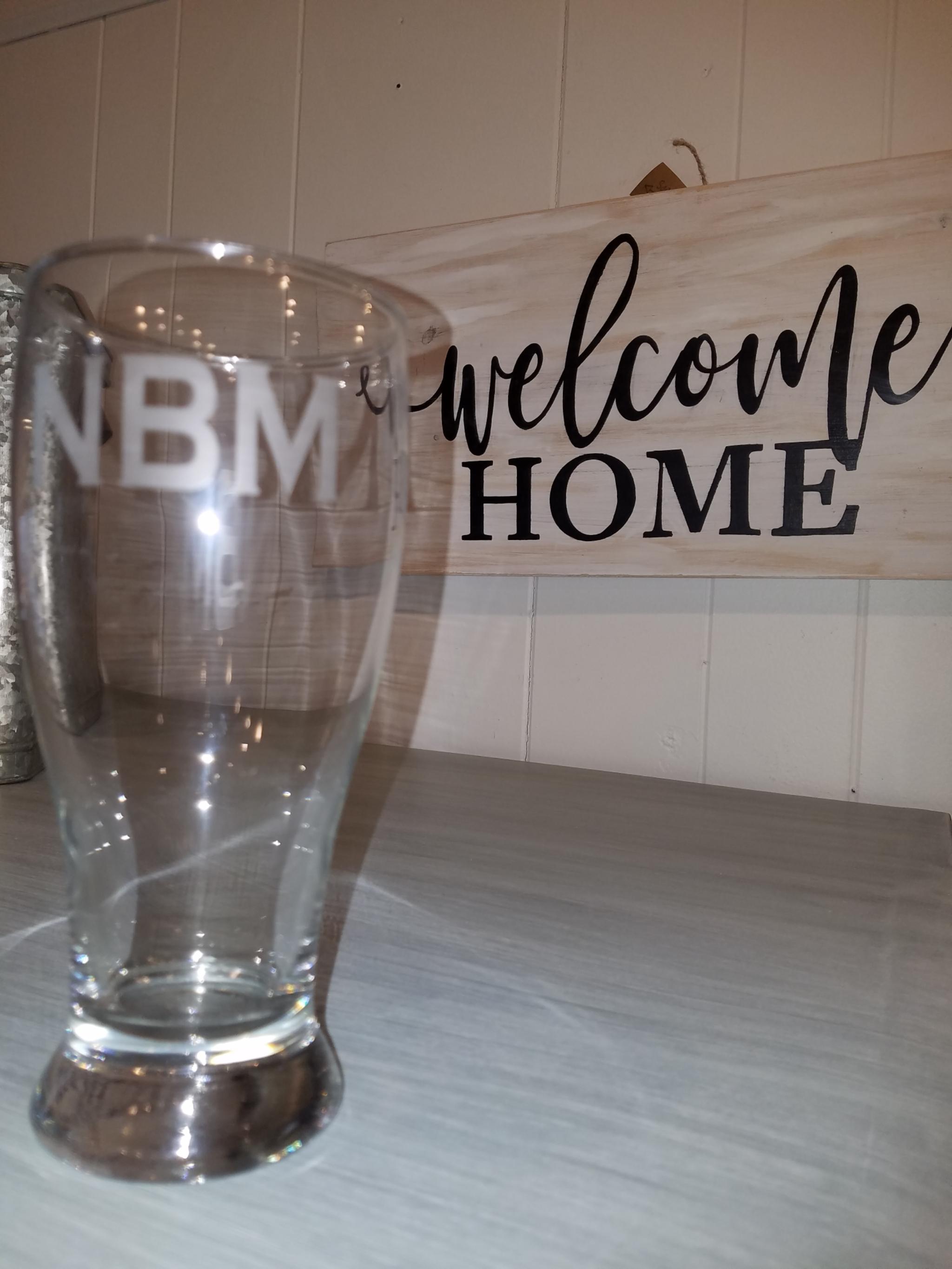 Etched Beer Glass etchbeer