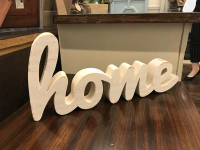 Cw Wood Word Home White