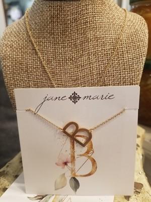 JM Initial B Necklace