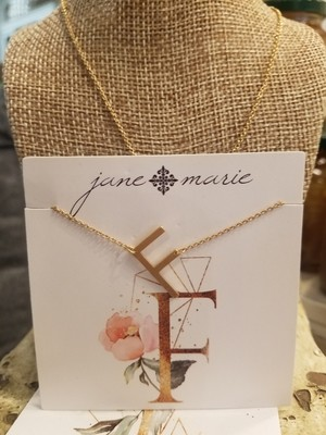 JM Initial F Necklace