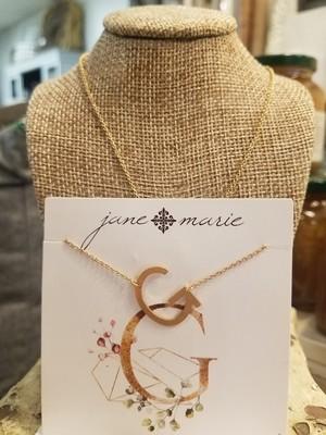 JM Initial G Necklace