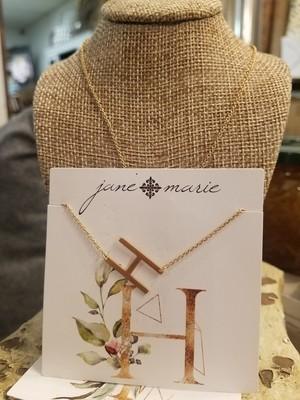 JM Initial H Necklace