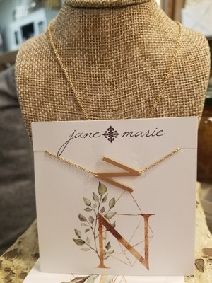 JM Initial N Necklace