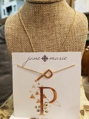 JM Initial P Necklace