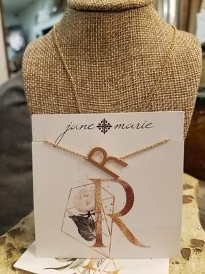 JM Initial R Necklace
