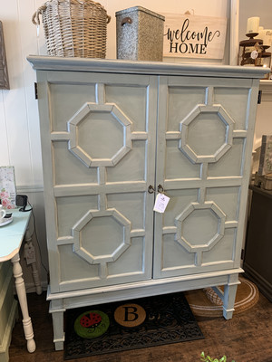 FGF Vintage Duck Egg Wardrobe