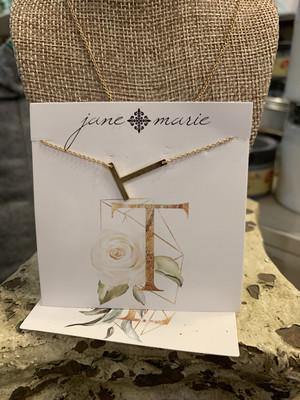 JM Initial T Necklace