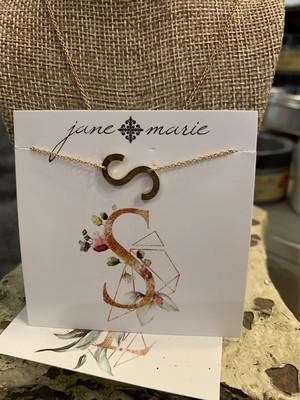 JM Initial S Necklace