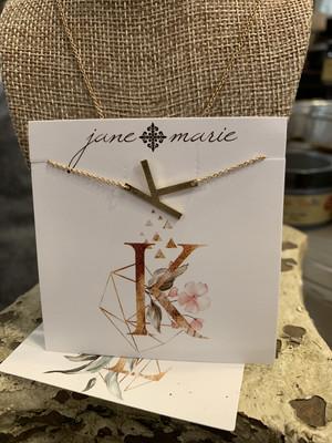 JM Initial K Necklace