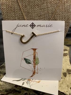 JM Initial J Necklace