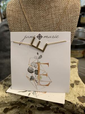 JM Initial E Necklace