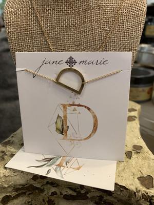 JM Initial D Necklace